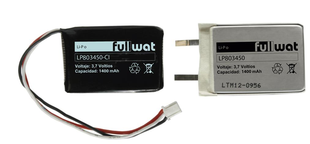 baterías de litio polímero con y sin circuito de protección