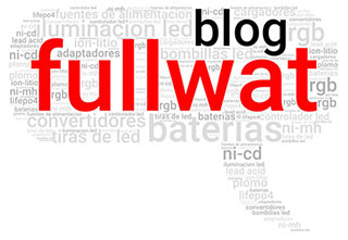 Nube de textos FULLWAT BATERIAS ILUMINACION LED FUENTES DE ALIMENTACION